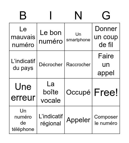Chapitre 3 - Mots 2 Bingo Card