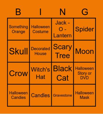 airG Halloween Bingo Card