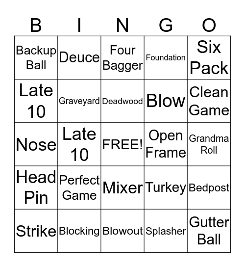THE KINGPINS Bingo Card