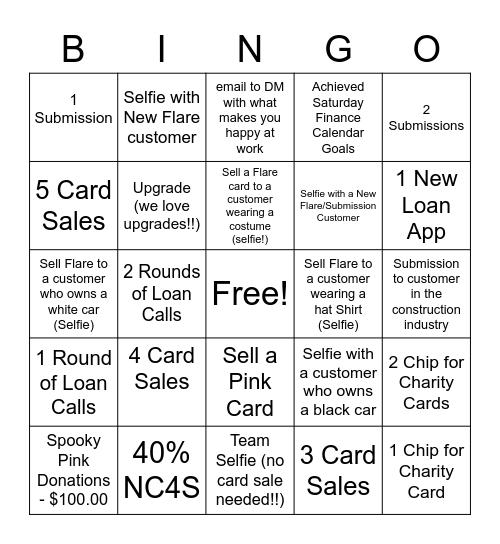 Spooky Saturday Bingo Card