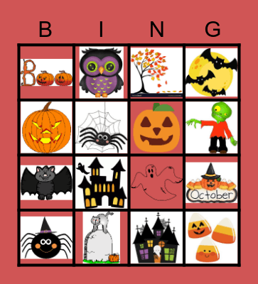 Halloween 2 Bingo Card