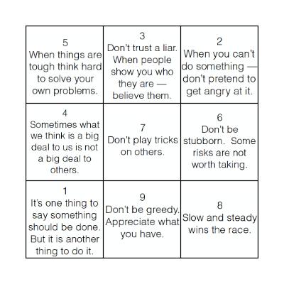 GIST Bingo Card