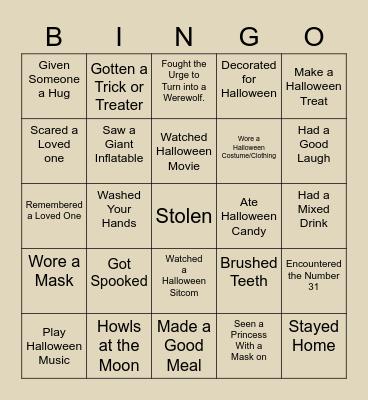 This is Halloween Bingo Card