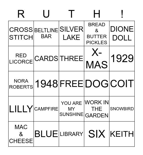 85th BIRTHDAY PARTY Bingo Card