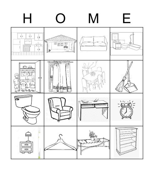Inside the Home Bingo Card