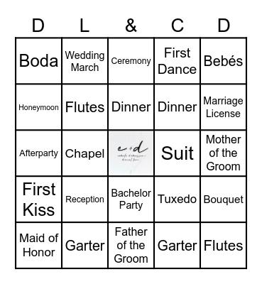 Daniel&Camilia Bingo Card