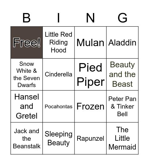 Fairy Tales Bingo Card