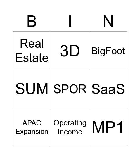 MP Townhall Nov 5th Bingo Card