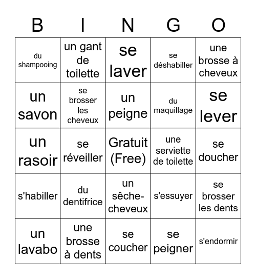 Chapitre 4 Bingo Card