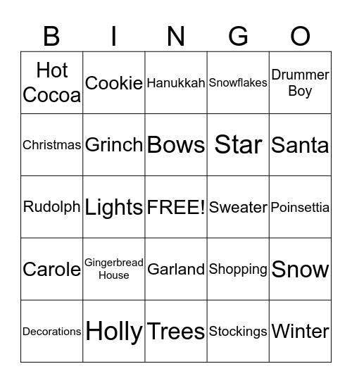 1149 Holiday Bingo Card