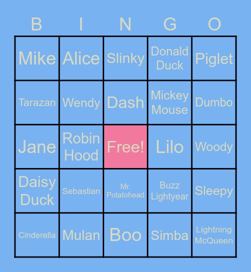 DISNEY BINGO! Bingo Card