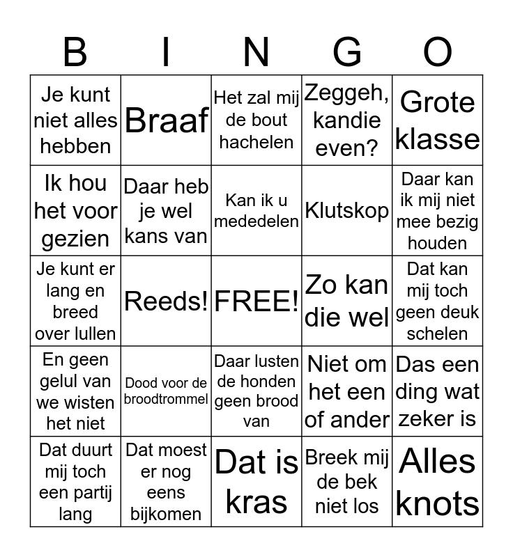 HANS 70 Bingo Card