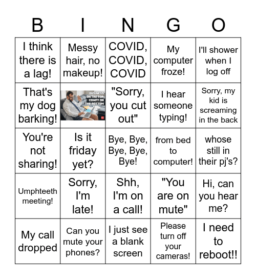 Home Office Hacks Bingo Card