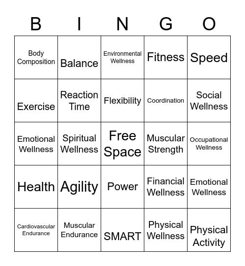 HPE Weeks 1 & 2 Review Bingo Card