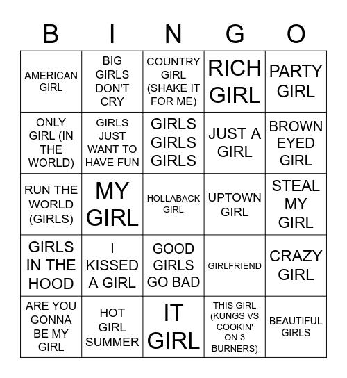 GIRL Bingo Card