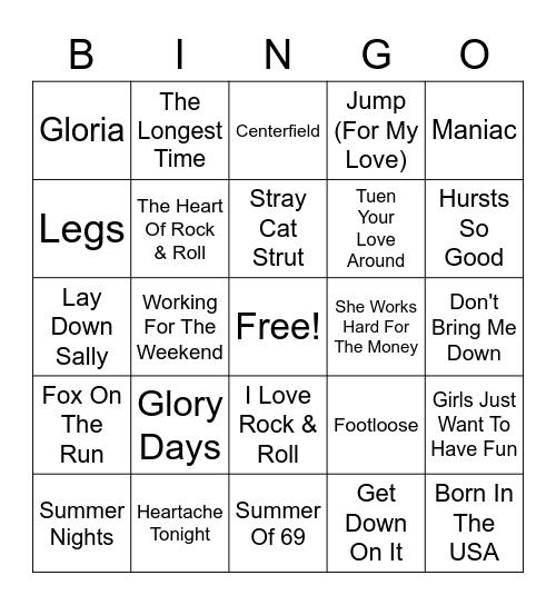 Whistle Misc. Hits #4 Bingo Card