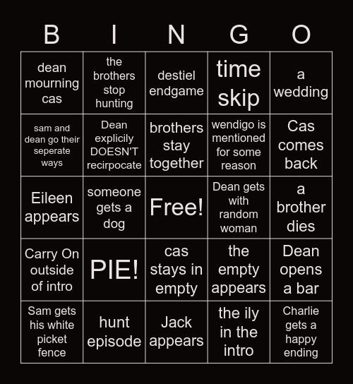 Supernatural FInale Bingo! Bingo Card