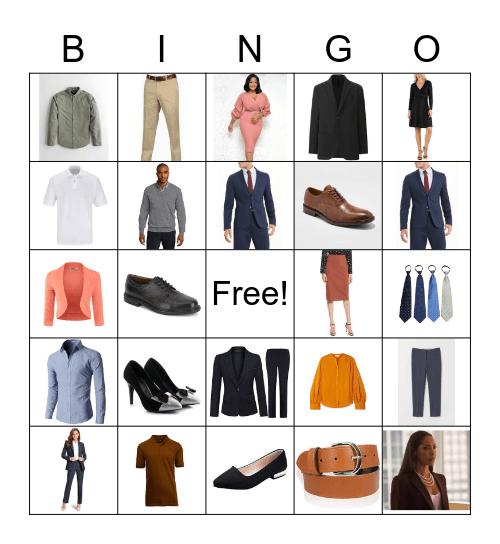 Office Wear Bingo Card
