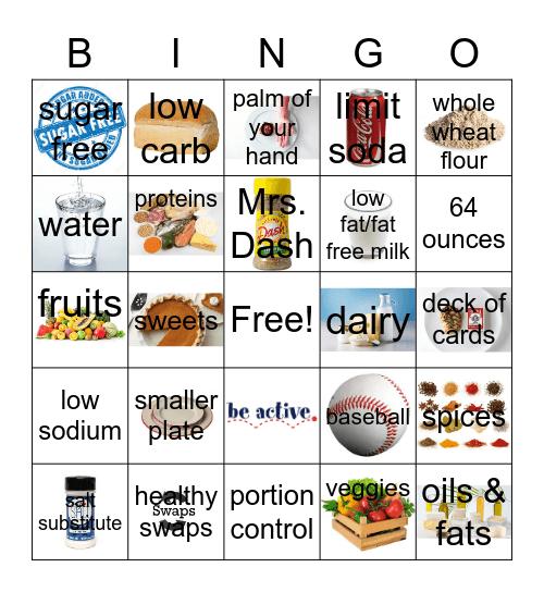 Healthy Eating Bingo EASC Bingo Card