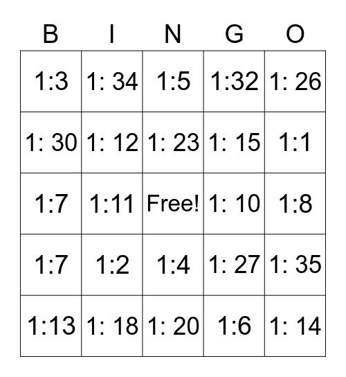 Senior Bible Quizzing Bingo Card