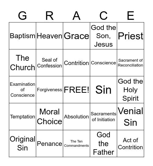1st Reconciliation Bingo Card