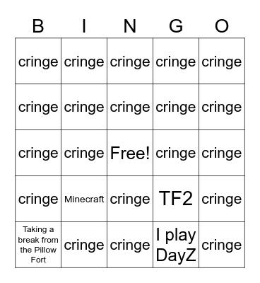 SubGm Bingo Card