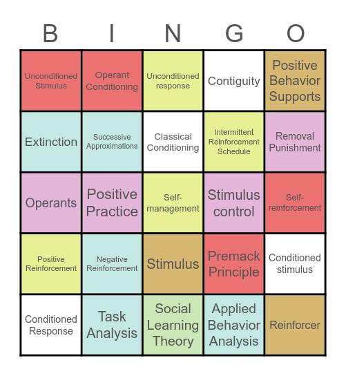 Behavioral Lingo Bingo Card