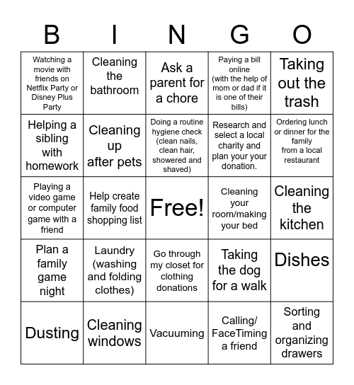 SLE Bingo 1 Bingo Card