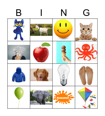 Name the first letter sound Bingo Card
