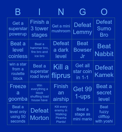 NSMBU Bingo Card