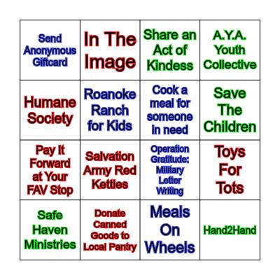 Tis The Season To Give Bingo Card