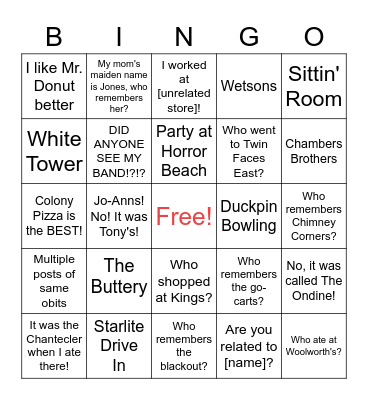 You Know You're Really From Stamford Bingo Card