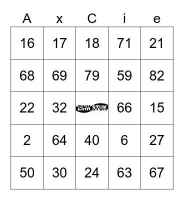 Zinkstuk Bingo Card