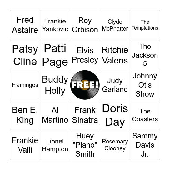 Bandstand Bingo Card