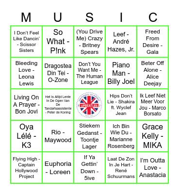 209 Bingo Card