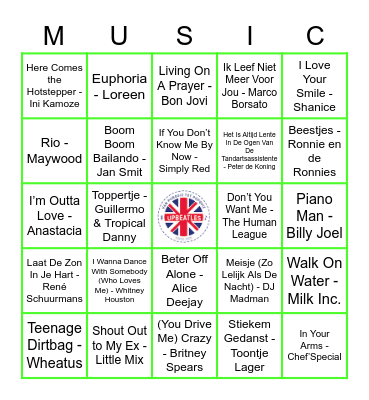 215 Bingo Card