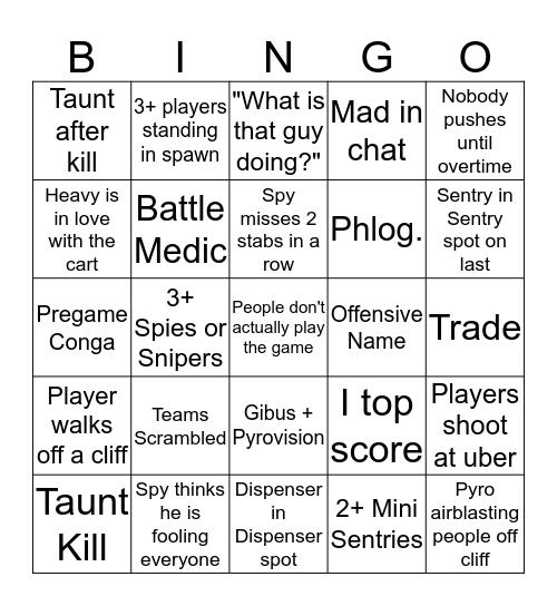 Upward Bingo Card