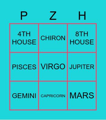 ASTROLOGY Bingo Card