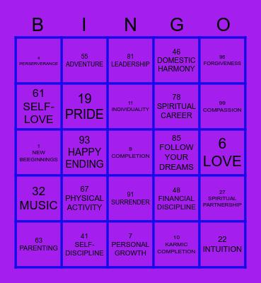 NUMEROLOGY Bingo Card