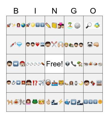 Emoji Movies Bingo Card