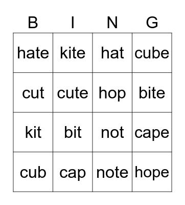 Magic e Bingo Card
