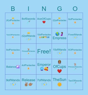 🧚🏽♀️Fairy Tarot Bingo🔮👁 Bingo Card
