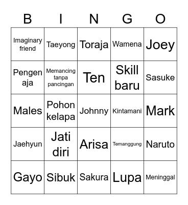 Hajoon Bingo Card