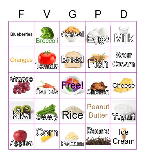NUTRITION BINGO!!! Bingo Card