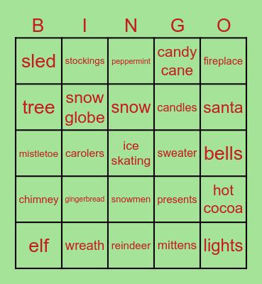 NHS Holiday Bingo! Bingo Card