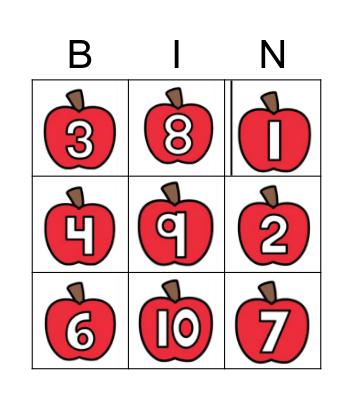Los Números 1-10 Bingo Card