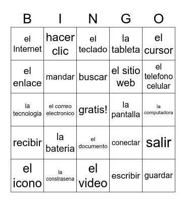 LA TECNOLOGIA Bingo Card