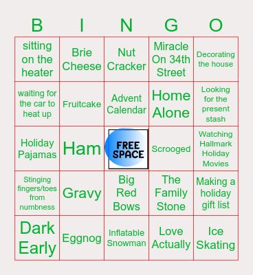 Holiday Nostalgia Bingo Card