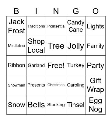 KDCC Christmas Bingo Card