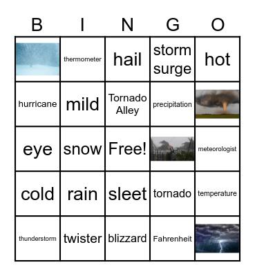 Weather Test Review BINGO! Bingo Card